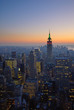 Quadro panorama of manhattan at sunset, new york