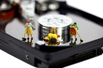 Computer anti-virus or data security concept.