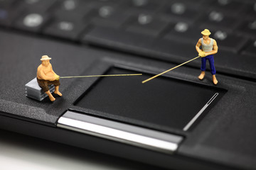Online phishing and identity theft concept.