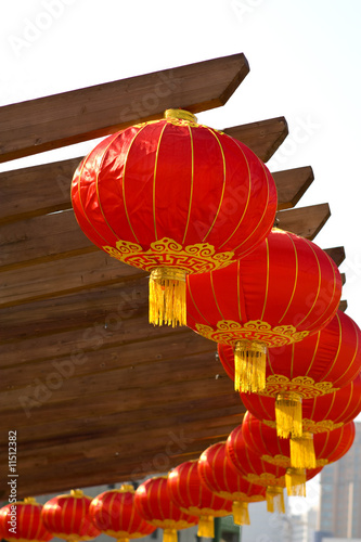 Chinese lanterns in circle