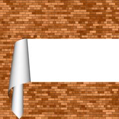 rippled brick wall