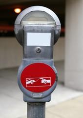 American parking meter macro detail