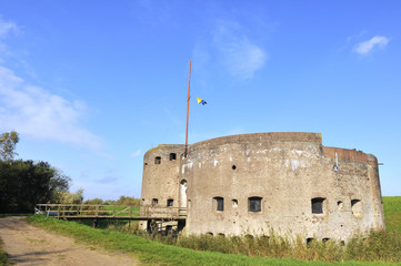 Bastion in Muiden Holland