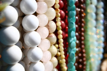 White & colored beads