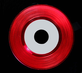 Red Vinyl 45 RPM record