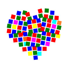 vector of square heart