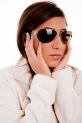portrait of young female wearing sunglasses