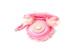 pink fluffy telephone poster