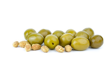 Green olives and some pits