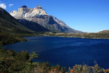 Lac et cuernos del Paine