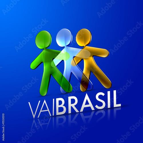 3 illustrated men representing brazil