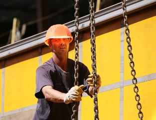 Workrer on construction site