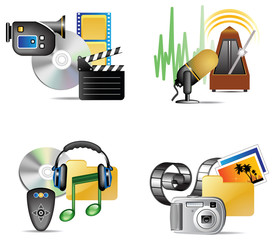 Set of multimedia internet icon