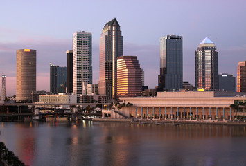 Tampa Skyline  Panoramatic view on modern skyscrapes