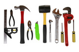 Array of tools isolated poster