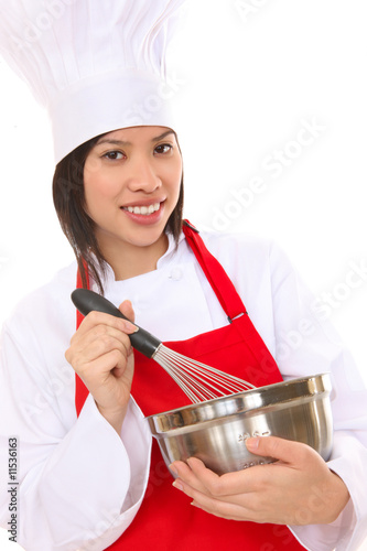 Pretty Asian Woman Chef