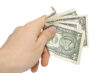 hand with few dollar 9
