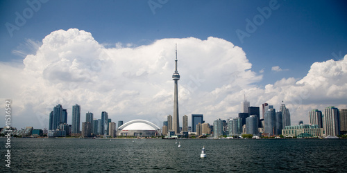Toronto Skyline with beautiful clouds