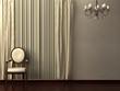 Classic minimalist interior visualisation.