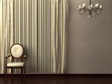 Classic minimalist interior visualisation. poster