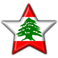 Lebanon button flag star shape
