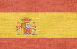 spain flag canvas