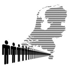 Dutch workforce with map