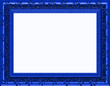special Royal Blue frame - Landscape - Isolated Copyspace
