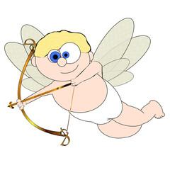 Cupid Cartoon No:3 - Isolated On White