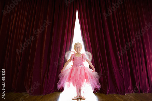 Ballerina posing on stage