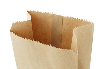 Open top empty brown paper bag