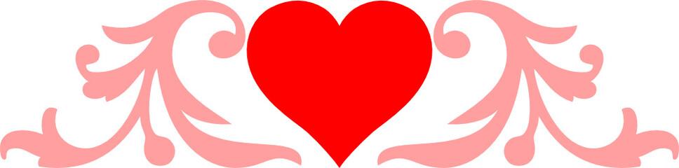 Heart and monogram
