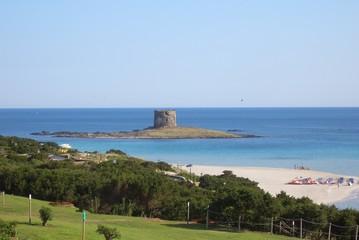 La torre e la spiaggia della Pelosa