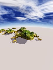 Ecological abstract with frogs