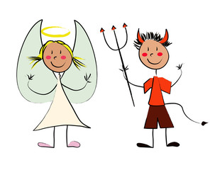 enfant ange et diable