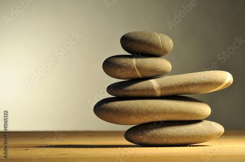 Leinwanddruck Bild pile of stones