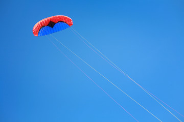 Red blue power kite