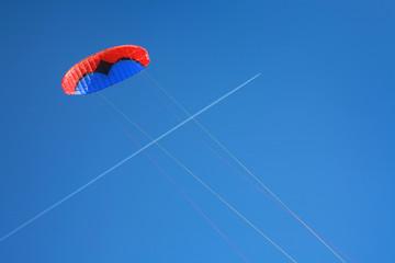 Red blue power kite