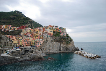 View of Manarola in Cinque terre (Liguria- Italy)