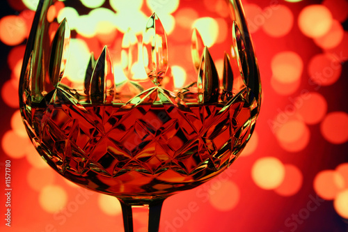 glass of cognac with background
