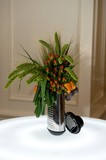Creative centerpiece with vegetables and foliage poster