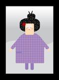japanese feminin character poster