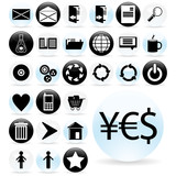 Set of icons for various web applications - vector poster