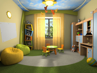 Modern interior of the childroom