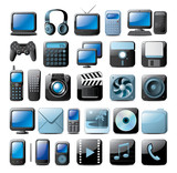 Fototapety multimedia icons