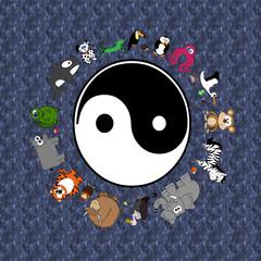 Animals Of Unity Peace - Yang & Yin