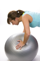 Push-ups on a ball