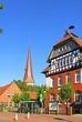 Leinwanddruck Bild - Burgwedel, Grundschule, St. Petri Kirche