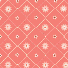 Pink  abstract background with  pearls