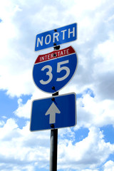Highway 35 Road Sign